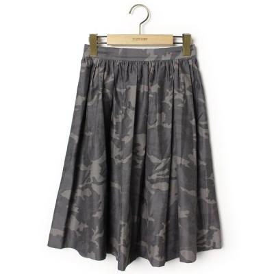スカート カモフラージュ柄フレアスカート