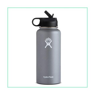 Hydro Flask 40oz Wide Mouth with Straw Lid (グラファイト)【並行輸入品】
