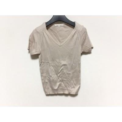 アナイ ANAYI 半袖セーター サイズ38 M レディース ベージュ Vネック【還元祭対象】【中古】