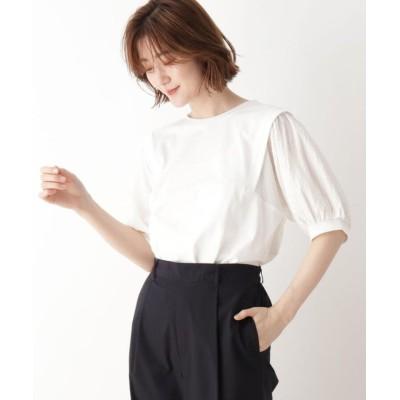 (SHOO・LA・RUE DRESKIP/シューラルー ドレスキップ)袖切替Tシャツ/レディース オフホワイト(003)