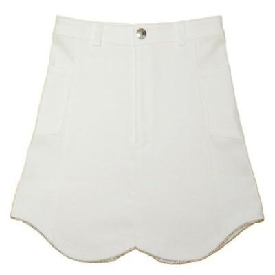 White Stretch Denim Skirt A3-67