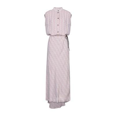 8PM ロングワンピース&ドレス レッド XXS レーヨン 100% ロングワンピース&ドレス