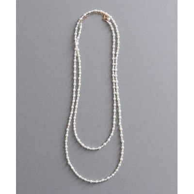 ネックレス K14GF 淡水パールロングネックレス100cm