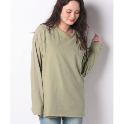 【オーシャンパシフィック】 ナガソデ Tシャツ レディース グリーン L Ocean Pacific