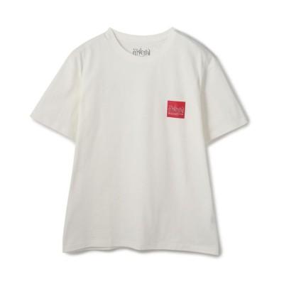 【ショット】 Manhattan Portage/マンハッタン ポーテージ/Box Logo T-Shirt/ボックスロゴTシャツ メンズ ホワイト S Schott