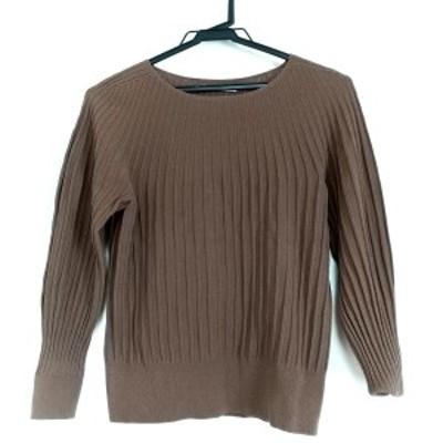 ノーリーズソフィー NOLLEY'S sophi 長袖セーター サイズ38 M レディース 美品 ブラウン【中古】20210405