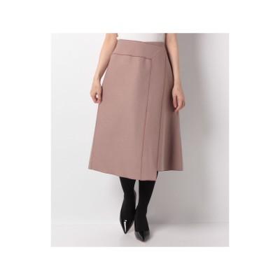 レリアン ラップ風スカート(ピンク系)【返品不可商品】