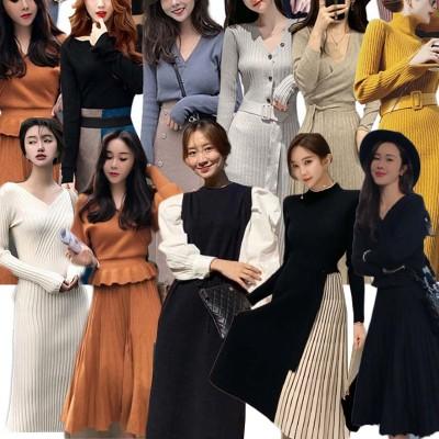 AJ (7)2020new秋高品質ワンピース バーゲンセール韓国ファッション ワンピースレディース大人可愛い ニットワンピース 高級品質韓国ファッション ロング ワンピ