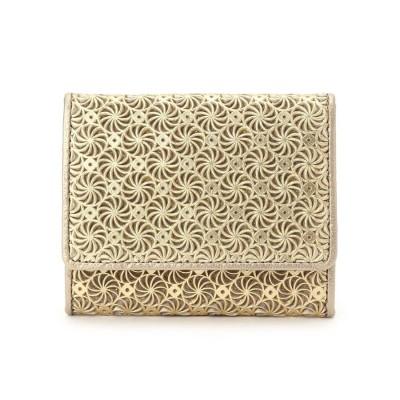 ヒロコ ハヤシ HIROKO HAYASHI GIRASOLE(ジラソーレ) 薄型ミニ財布 (ゴールド)
