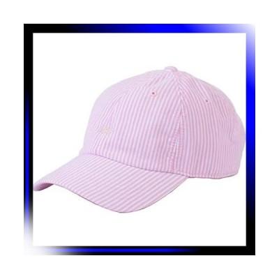 15 ピンク リー シアサッカー ロゴ キャップ ローキャップ 帽子