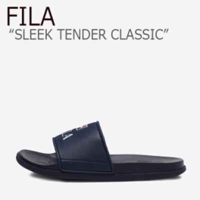 フィラ サンダル FILA メンズ レディース SLEEK TENDER CLASSIC スリーク テンダー クラシック NAVY ネイビー 1SM00730-400 シューズ
