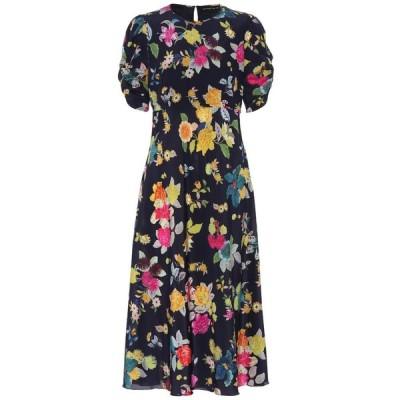 エトロ Etro レディース ワンピース ミドル丈 ワンピース・ドレス floral stretch-silk crepe midi dress