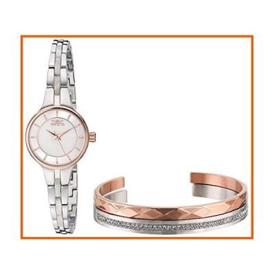 Invicta Women's Angel Quartz Watch with Stainless Steel Strap, Silver, 8 (M