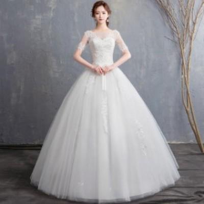 ウエディングドレス ロングドレス 披露宴 二次会 結婚式 イベント ウエディングフォト 前撮り 撮影 送料無料 p45