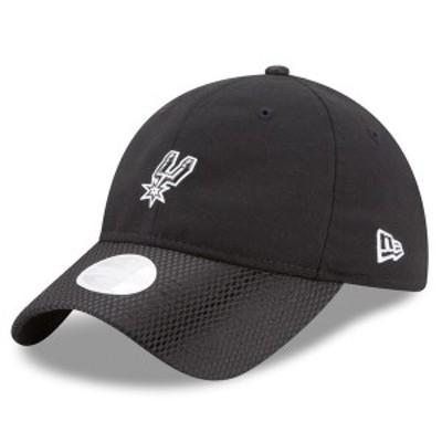 ニューエラ レディース 帽子 アクセサリー San Antonio Spurs New Era Women's On-Court 9TWENTY Adjustable Hat Black