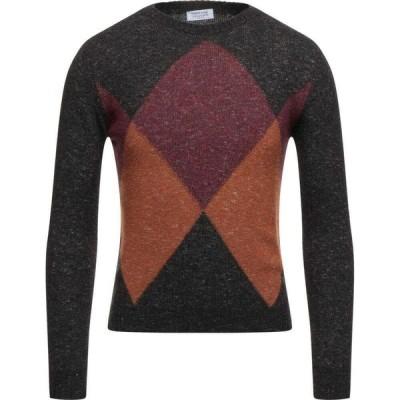 ヘリテイジ HERITAGE メンズ ニット・セーター トップス sweater Dark brown