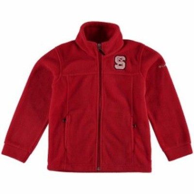 PING ピング スポーツ用品  Columbia NC State Wolfpack Youth Red Flanker Full Zip Fleece Jacket