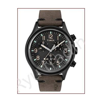 新品Timex TW2R96500 メンズ腕時計 クロノグラフ クォーツ レザーストラップ
