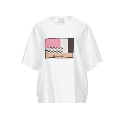アリジ ALYSI T シャツ ホワイト M コットン 100% / 合成繊維 / バージンウール / シルク T シャツ