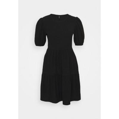 オンリー プティ レディース ワンピース トップス ONLNELLA SHORT DRESS  - Day dress - black black