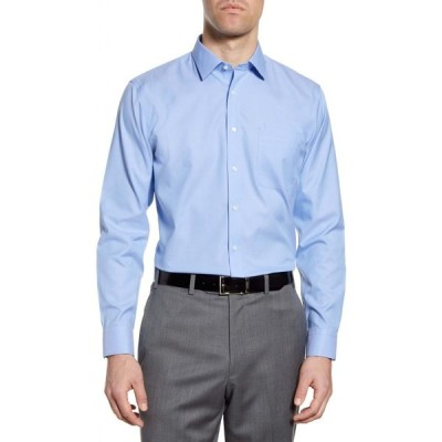 ノードストローム NORDSTROM MEN'S SHOP メンズ シャツ トップス Smartcare' Trim Fit Solid Dress Shirt Blue Hydrangea
