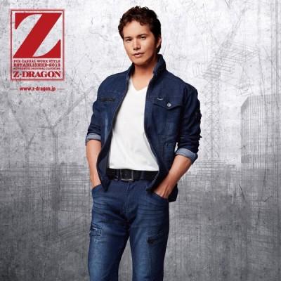 自重堂 Z-DRAGON 作業服・作業着 ストレッチデニム  ノータックカーゴパンツ 75602 73・76・79・82・85・88cm