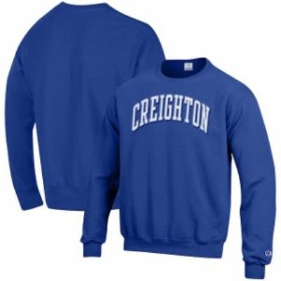 Champion チャンピオン スポーツ用品  Champion Creighton Bluejays Blue Arch Over Logo Powerblend Sweatshirt