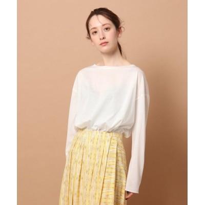 【ドレステリア】 シアーロングスリーブTシャツ レディース ホワイト 38(M) DRESSTERIOR
