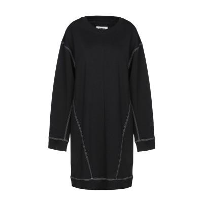 MM6 メゾン マルジェラ MM6 MAISON MARGIELA ミニワンピース&ドレス ブラック XS 100% コットン ポリウレタン ミニワ