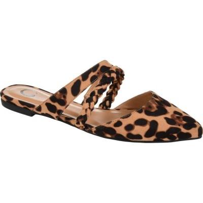 ジュルネ コレクション Journee Collection レディース サンダル・ミュール シューズ・靴 Comfort Foam(TM) Olivea Mule Leopard
