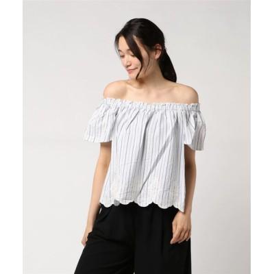 ROPE' PICNIC / 【2WAY】裾刺繍オフショルダーブラウス WOMEN トップス > シャツ/ブラウス