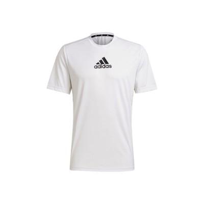 アディダス adidas メンズ PRIMEBLUE デザインド トゥ ムーブ スポーツ 3ストライプス 半袖Tシャツ スポーツ トレーニング 半袖 Tシャツ