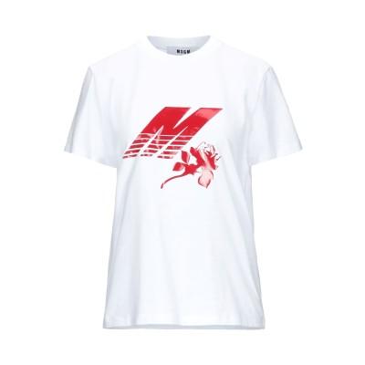 エムエスジーエム MSGM T シャツ ホワイト XS コットン 100% T シャツ