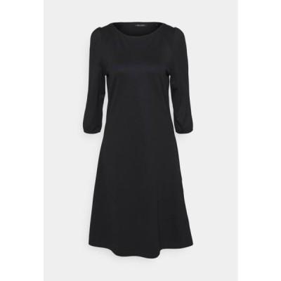 マルコポーロ レディース ファッション DRESS ROUND NECK - Jersey dress - black