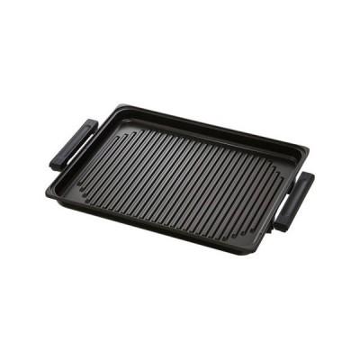 パナソニック IHホットプレート(IH調理器)専用焼肉プレート ブラック Panasonic KZ-AY10-K 返品種別A