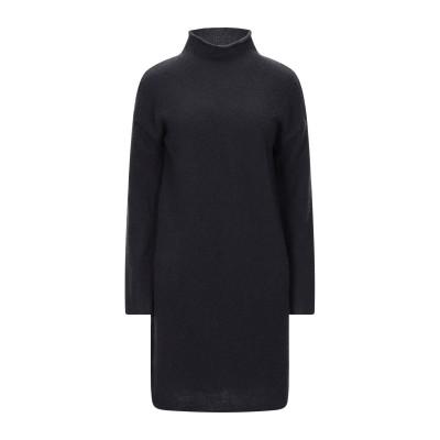 マジェスティック MAJESTIC FILATURES ミニワンピース&ドレス ブラック 1 ウール 82% / カシミヤ 18% ミニワンピース&