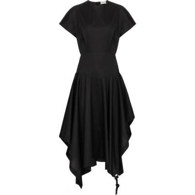 モンクレール Moncler Genius レディース ワンピース ミドル丈 ワンピース・ドレス 1 MONCLER JW ANDERSON cotton midi dress Black