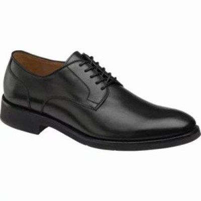 ジョンストン&マーフィー 革靴・ビジネスシューズ Carlson Plain Toe Oxford Black Italian Calf Leather