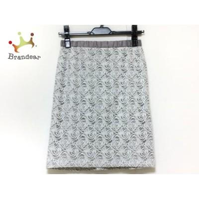 ジャスグリッティー JUSGLITTY スカート サイズ1 S レディース 美品 白×グレー       スペシャル特価 20200424
