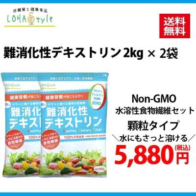 難消化性デキストリン 4kg(2kg×2袋) 顆粒タイプ デキストリン 水溶性食物繊維