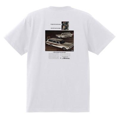 アドバタイジング マーキュリーTシャツ 白 1150 黒地へ変更可 1966 レトロ モントレー マーキス クーガー サイクロン コロニーパーク