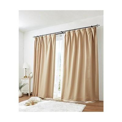 [nissen(ニッセン)] カーテン レースカーテン 4枚セット 遮光裏地付 ワッフル ベージュ 幅100×長さ150(148)cm
