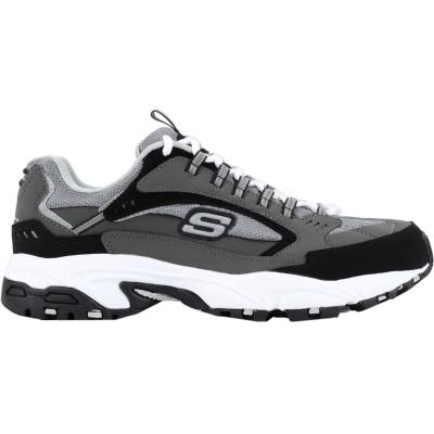 スケッチャーズ SKECHERS スニーカー&テニスシューズ(ローカット) グレー 10 革 / 紡績繊維 スニーカー&テニスシューズ(ローカット)