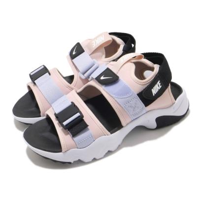 Nike 涼鞋 Canyon Sandal 穿搭 女鞋 舒適 簡約 夏日 輕便 魔鬼氈 球鞋 粉 白 CV5515600