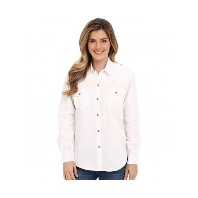 Roper ローパー レディース 女性用 ファッション ボタンシャツ L/S Solid Basic Snap Front - White