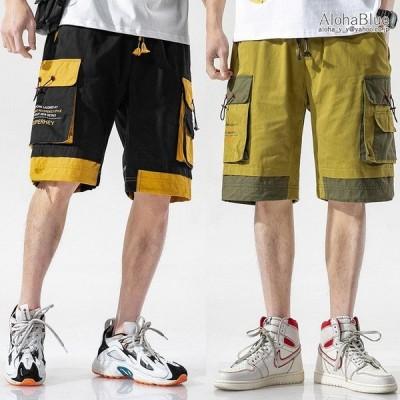 カーゴパンツ ショート丈 ミリタリーファッション ハーフパンツ ショートカーゴパンツ 半ズボン 短パン ストリート系 メンズ 2021 夏