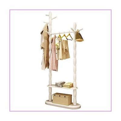 QERNTPEY Coat Rack Garment Coat Clothes Hanging Heavy Duty Rack Shoe Clothing Storage Organizer Shelves Store Your Belongings Efficiently (C