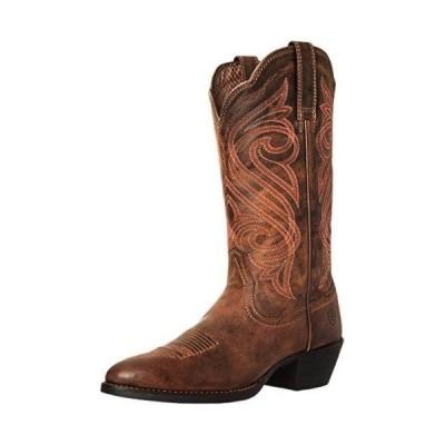 アリアト ウェスタン Ariat レディース ラウンド Up R Toe W Toe Western Cowboy ブーツ 8 Dark Toffee
