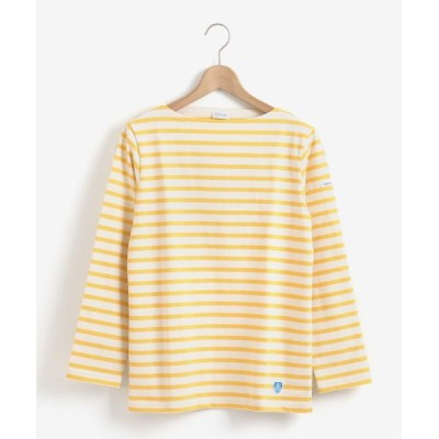 le.coeur blanc/ルクールブラン ORCIVAL COTTON LOURD ボーダーTシャツ イエロー柄 38