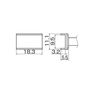 【代引不可】 白光 こて先 トンネル 9.5mmX18.3mm 【T121003】